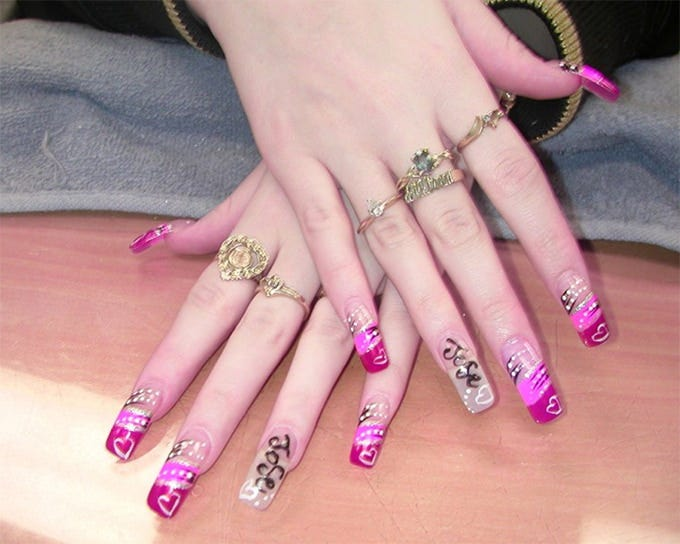 silver and pink nail designs - 40+ Fabulous Collection Of Pink Nail Designs Free & Premium Templates