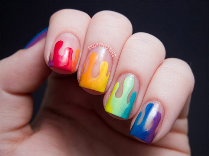 simple and creative nail art design