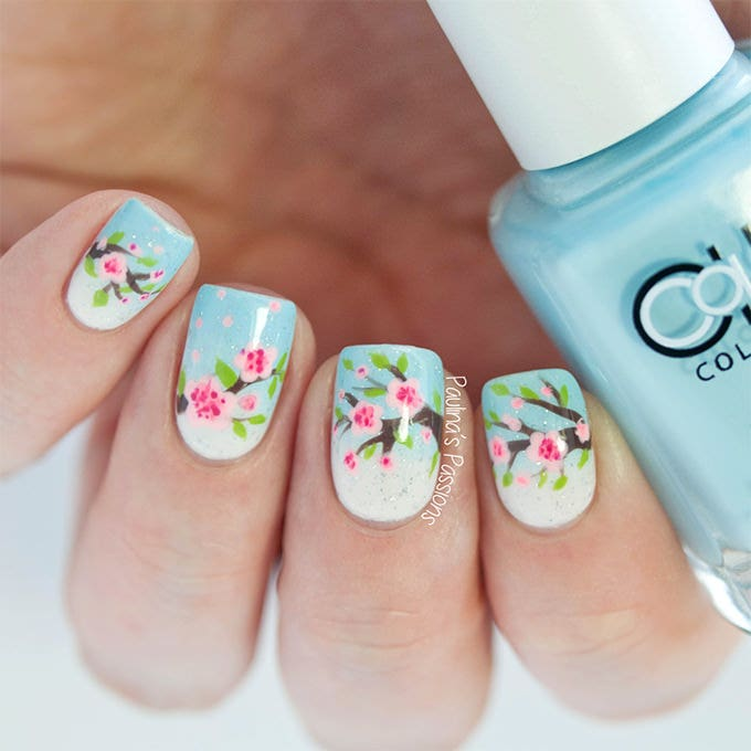 Floral Manicures For Spring And: 25+ Flower Nail Designs & Ideas!