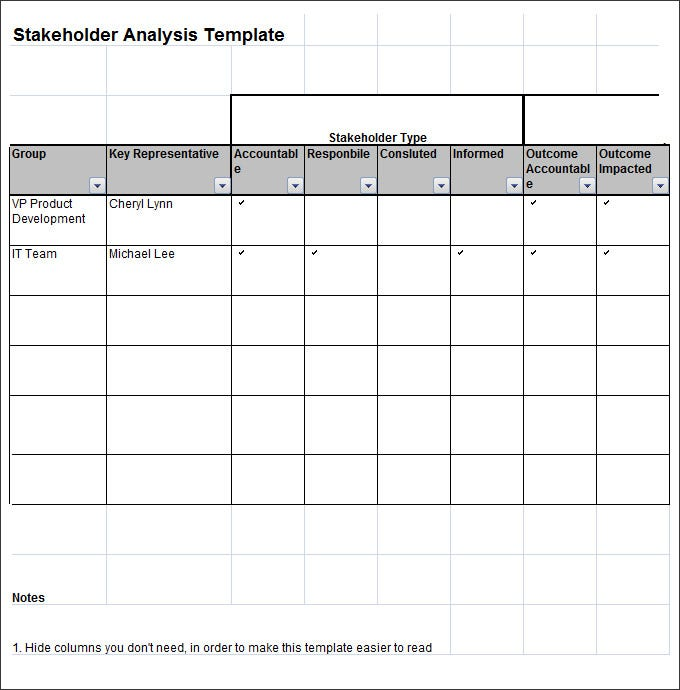 Stakeholder Analysis Template   Free Word Excel Pdf Documents