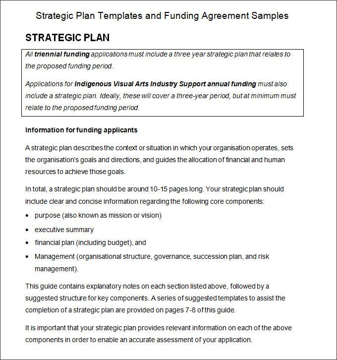 Strategic Planning Process Template   Free Word Pdf Documents