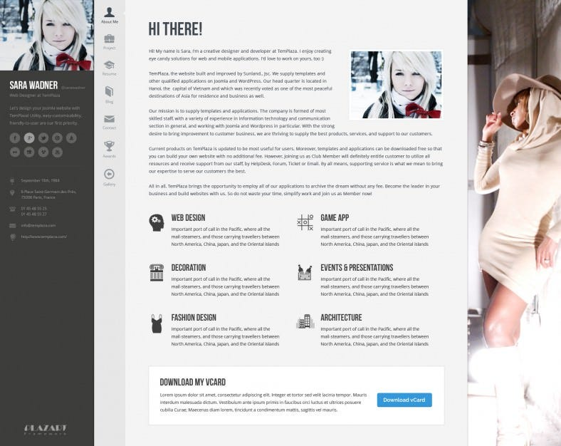 30 best vcard templates themes free