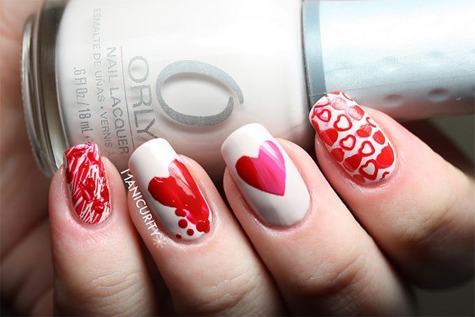 valentine nail art design