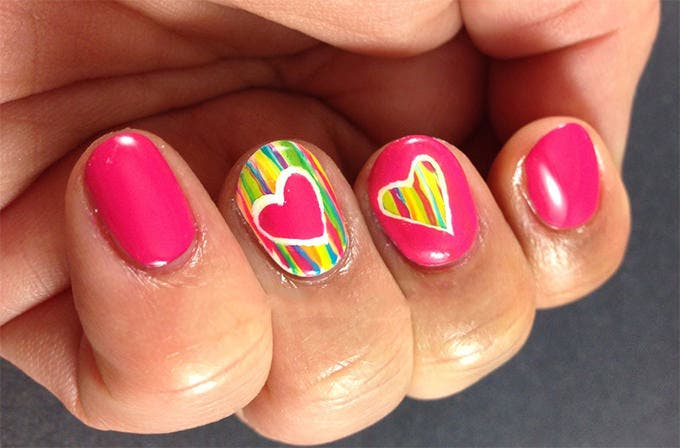 valentines nail art design
