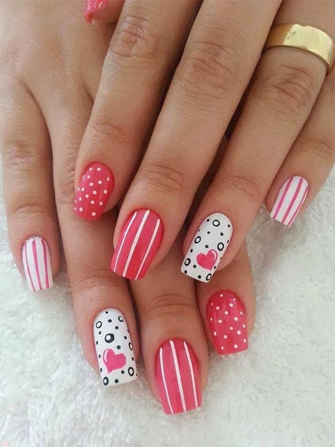 Red Valentine Nail Designs Gallery - Nail Art and Nail Design Ideas