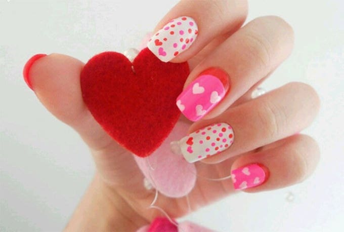 valentines nails design
