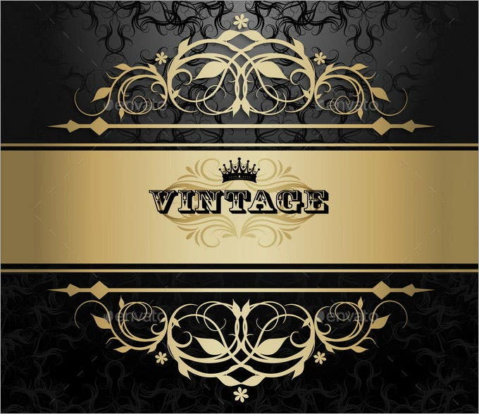 vintage background with golden pattern