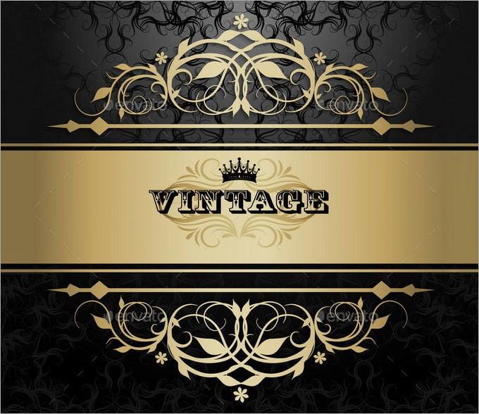 vintage background with golden pattern