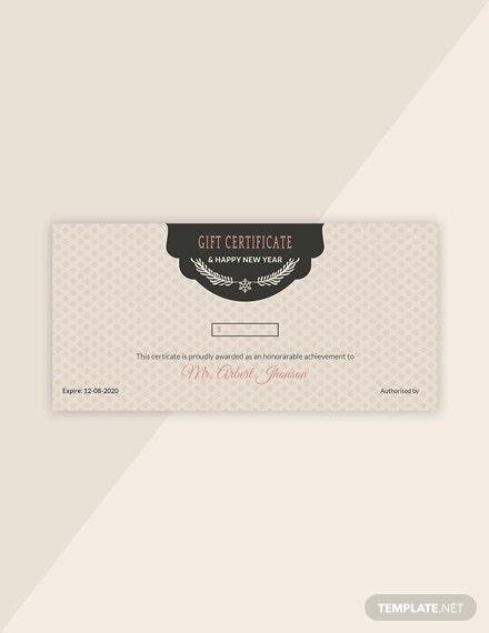 vintage holiday gift certificate