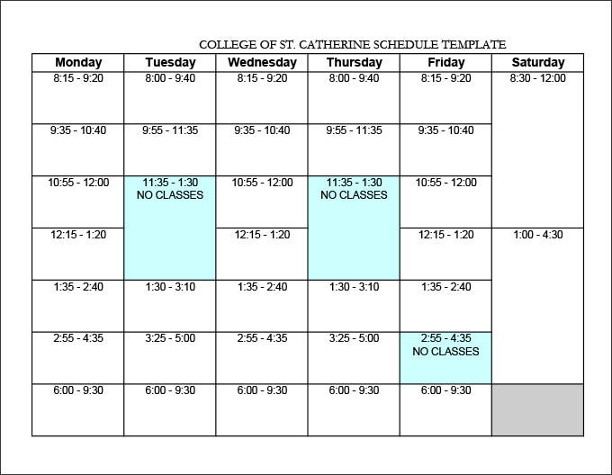 weekly syllabus template
