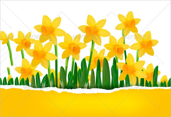 yellow flower background with ripped paper