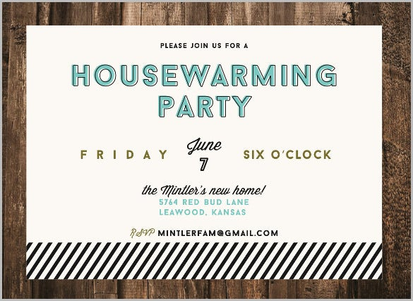announcement modern housewarming invitation