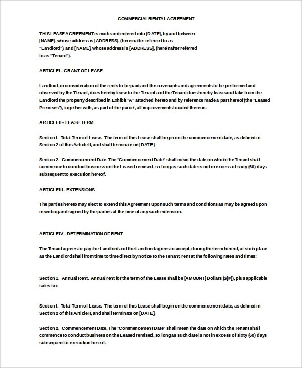 enterprise commercial rental agreement free doc download1