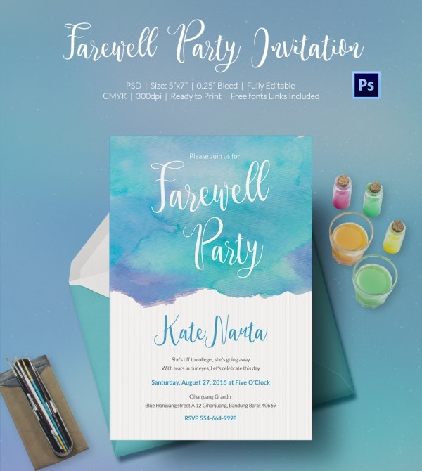 Farewell Invite Template PSD