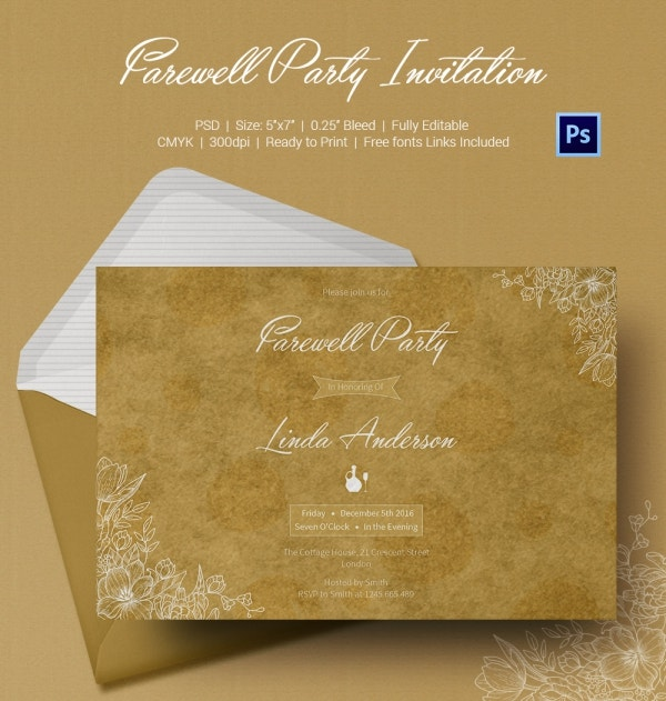 Farewell Party Invitation Cards Download