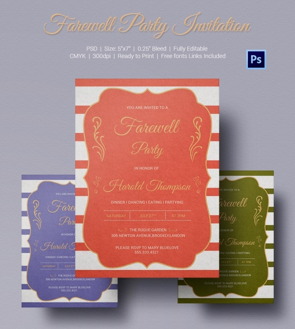 Farewell Party Invitation Letter Design
