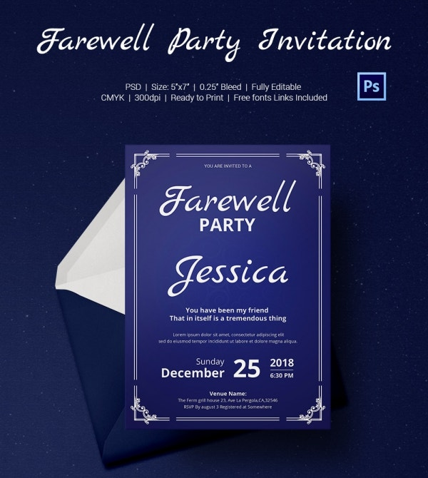 Premium Farewell Party Invitation