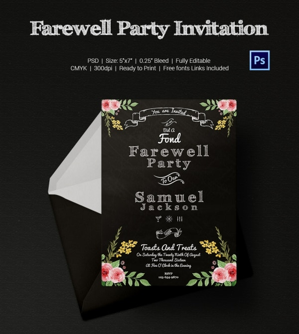 Printable Farewell Party Invitation