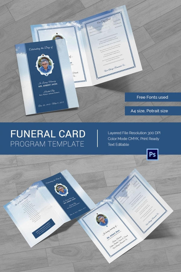 Funeral Program Card Template