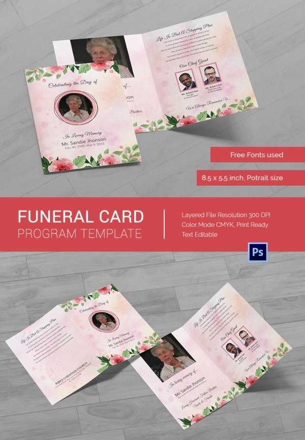 Funeral Program Card Template_2