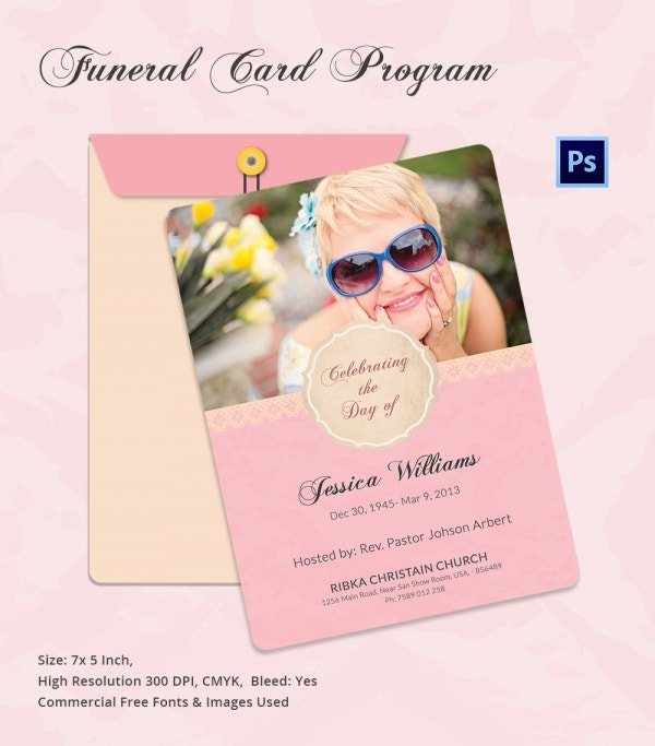 Funeral Program Card Template_3