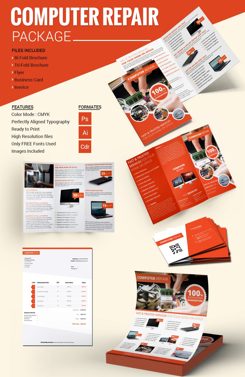 Computer Repair Flyer Template Novasatfmtk - Free marketing brochure templates