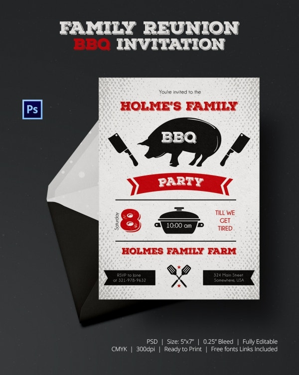 BBQ Get Together Invitation Template