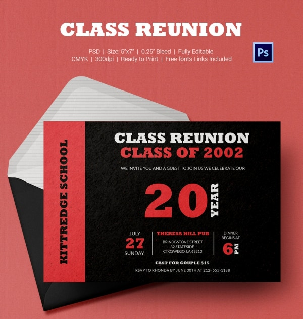 Classmates Get Together Invitation Card