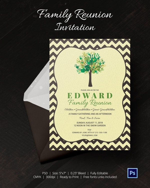 Family Gathering Invitation Card Template