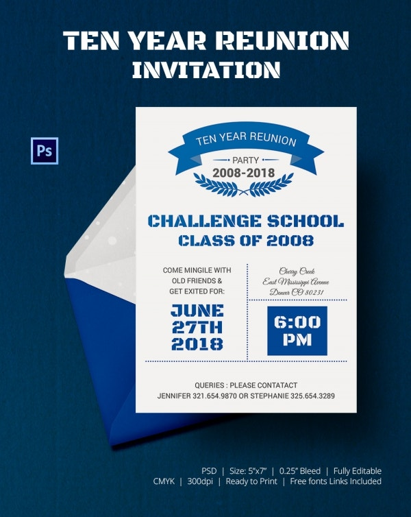 School Get Together Party Invitation Template Download