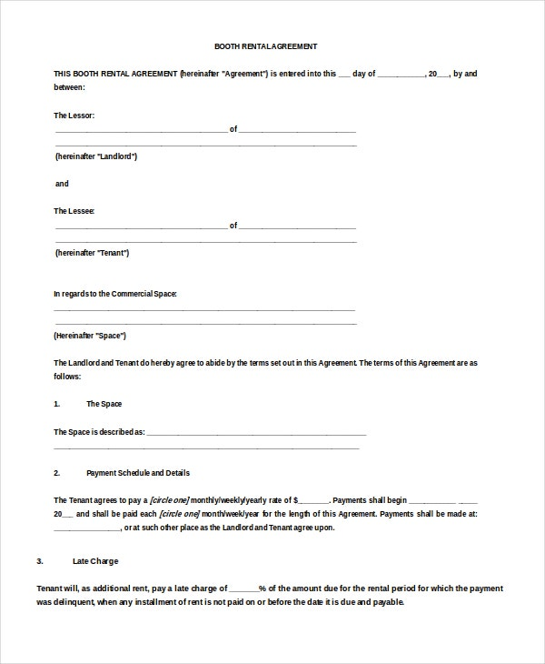 12 Blank Rental Agreement Templates Free Sample Example Format – Printable Rental Agreement Template