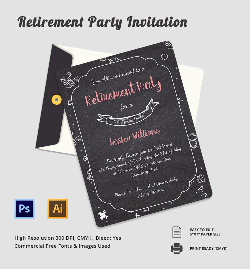 elegant retirement party invitation templates | trattorialeondoro