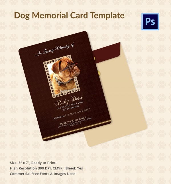 Dog_memorial_Card _template