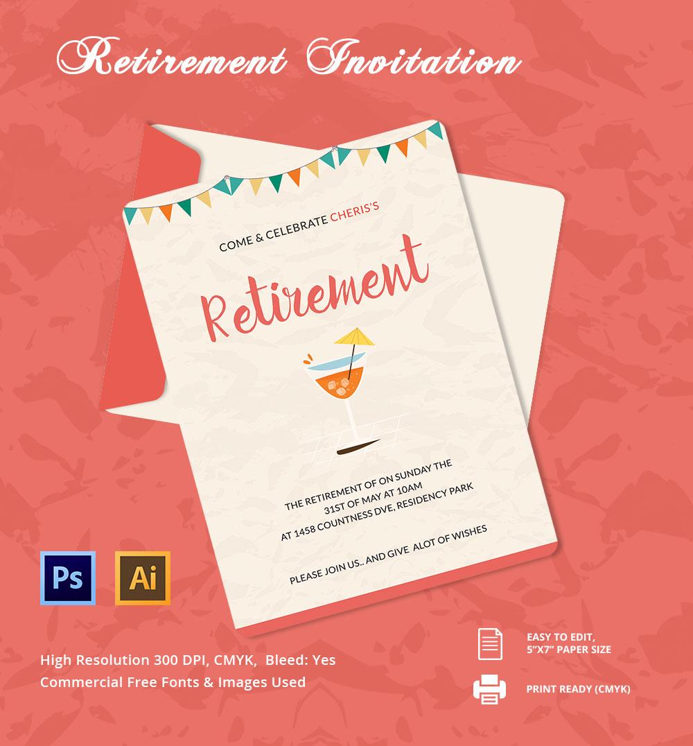 Beautiful-Retirement-Party-Invitation-Template
