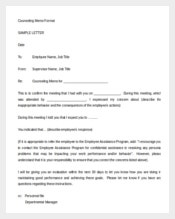 Disciplinary Letter Of Counseling Memo Sample Download