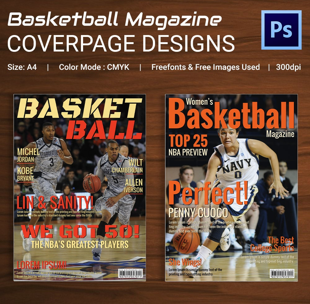 Basket Ball magazine Cover Page Design