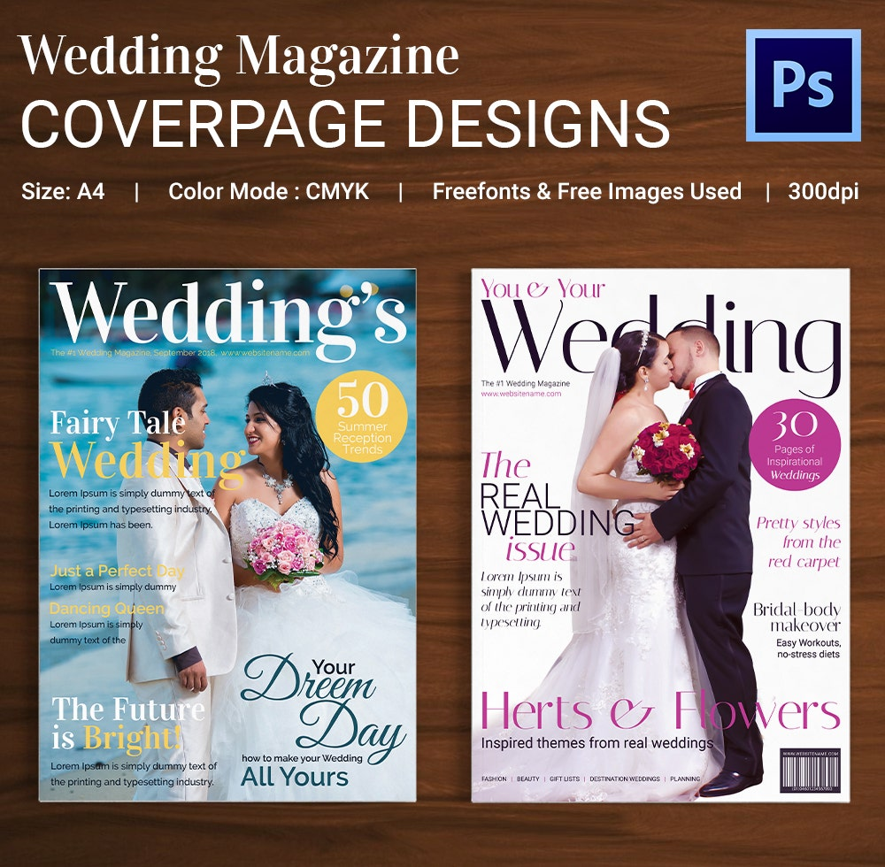 Wedding Magazine Cover Page Template