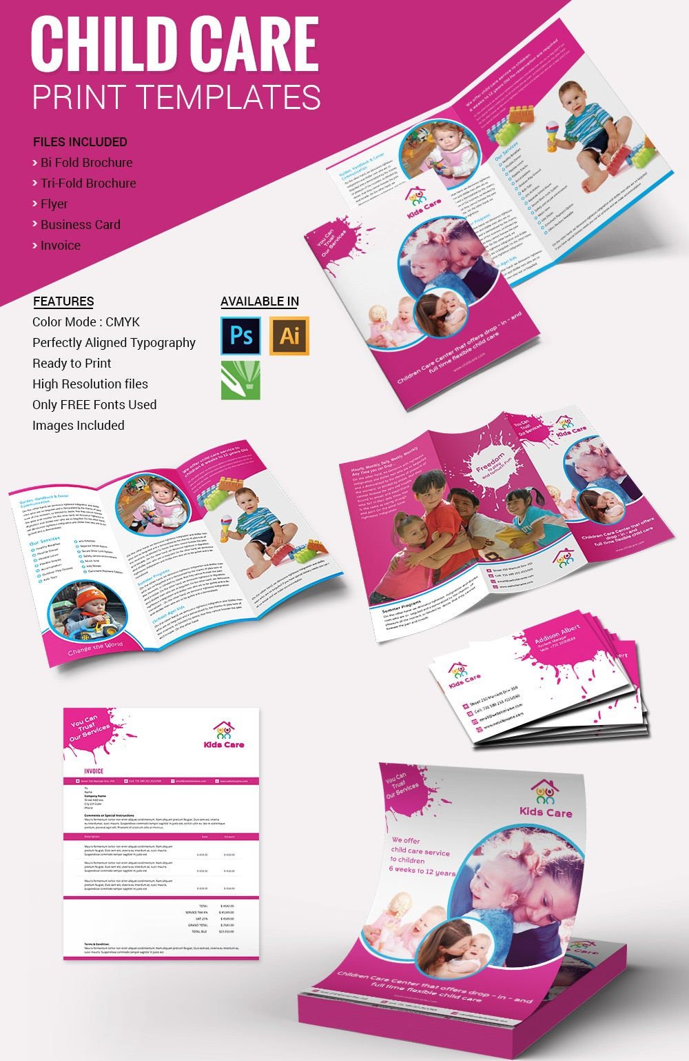 beautiful child care brochure templates premium templates child care print templates package