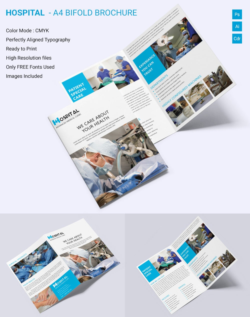 Medical Brochure Template 39 Free PSD AI Vector EPS InDesign – Hospital Flyer Template