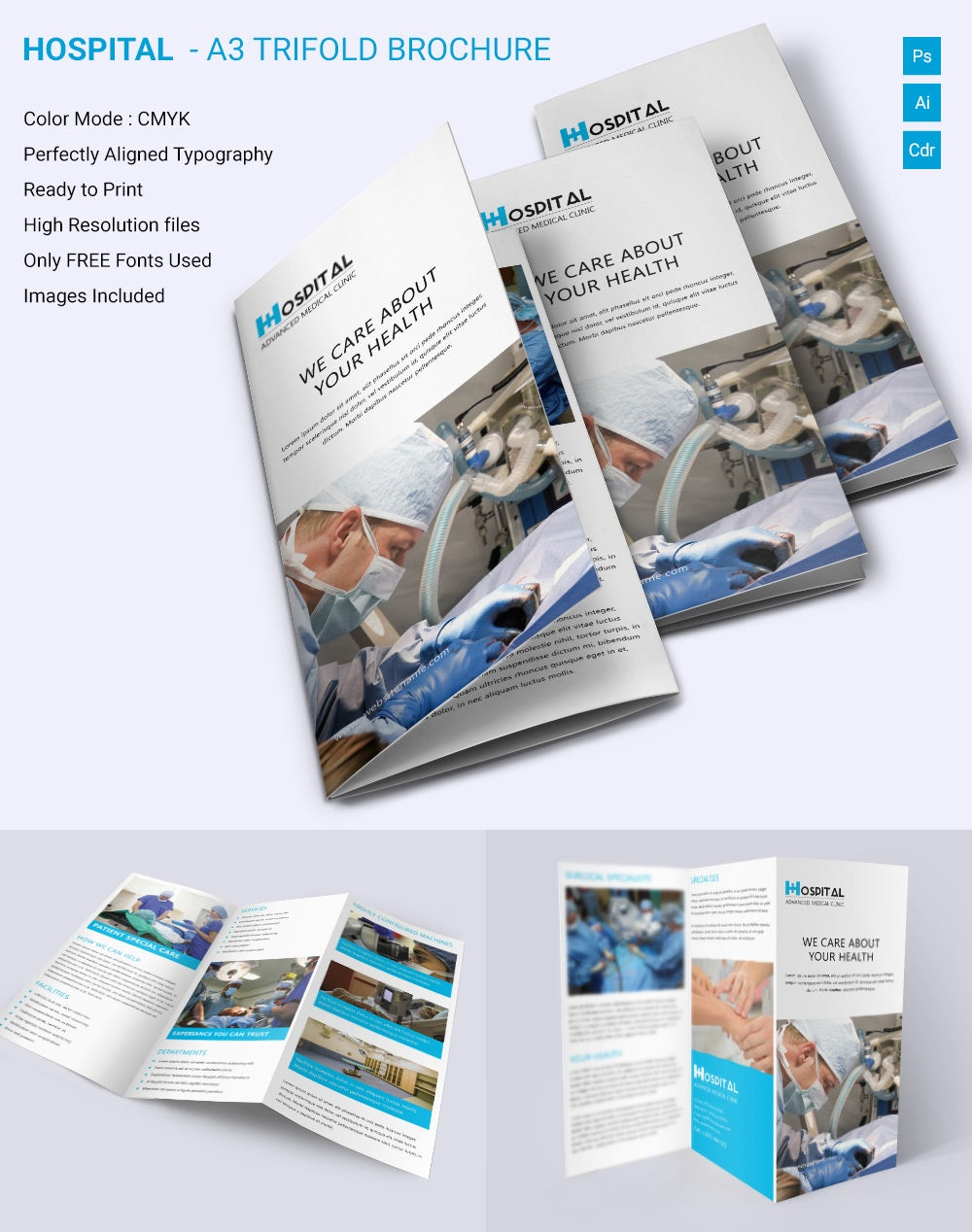 Medical brochure template 39 free psd ai vector eps for Trifold brochure template