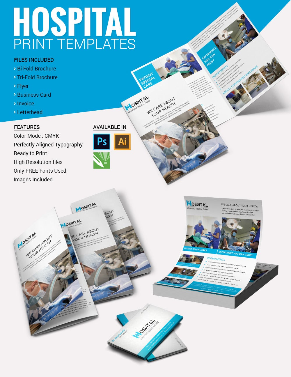 Medical brochure template 39 free psd ai vector eps for Medical office brochure templates