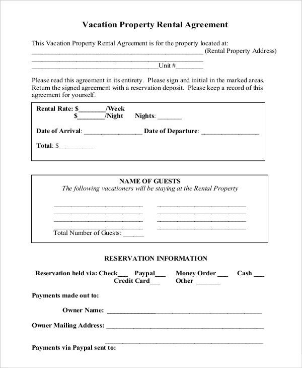 Sample Commercial Property Rental Agreement Download