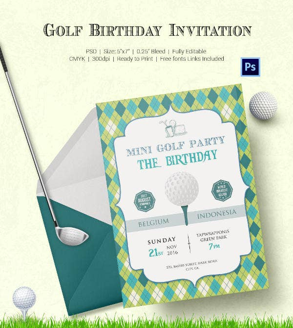 25 fabulous golf invitation templates designs free premium fabulous golf invitation filmwisefo