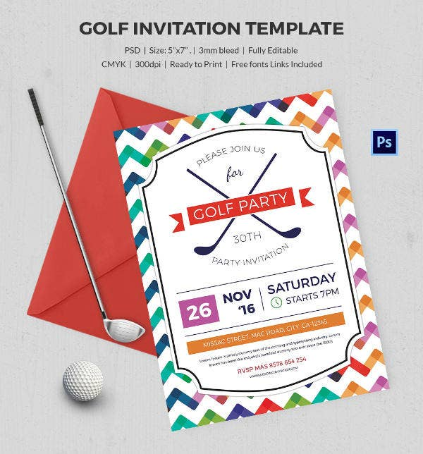 golf event invitation
