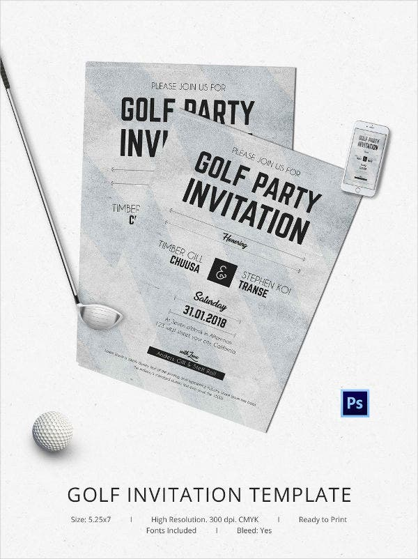 golf flat invitation