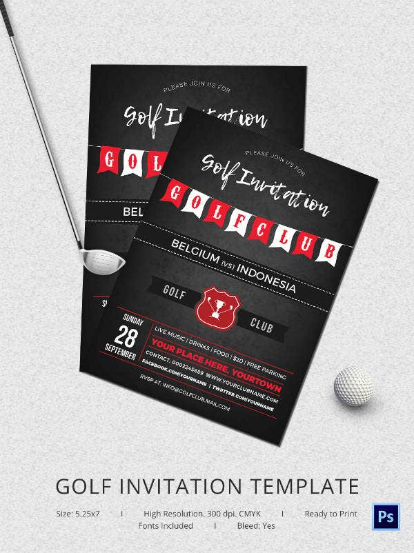 Fabulous Golf Invitation Templates Designs Free Premium - Party invitation template: club party invitation template