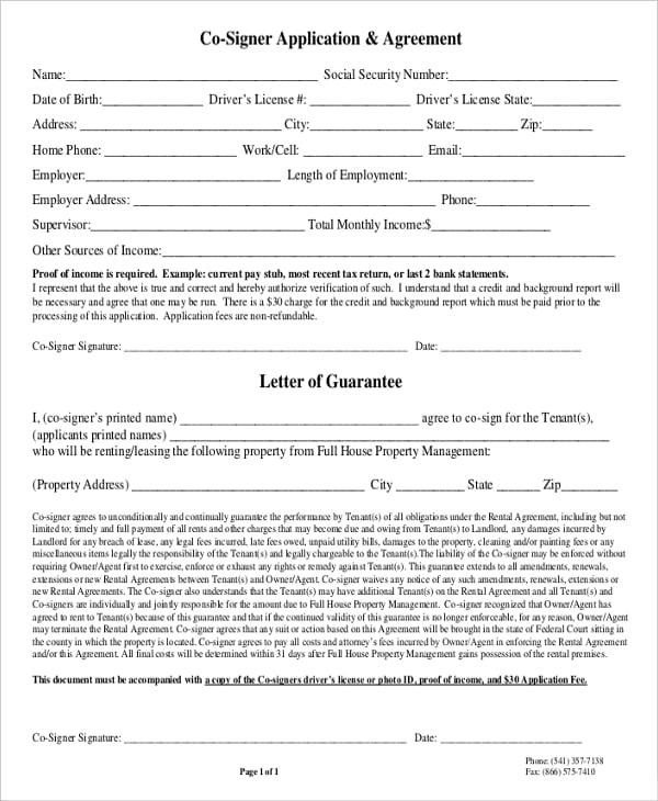 Rental Agreement Letter – Rental Agreement Letter Free