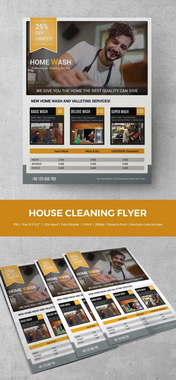 House Cleaning Flyer Template 23 PSD Format Download – House Cleaning Flyer Template