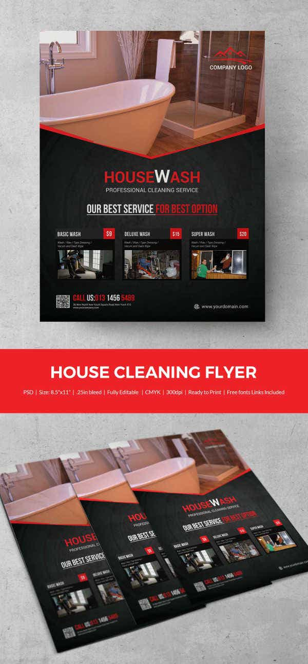 House Cleaning Flyer  WowcircleTk