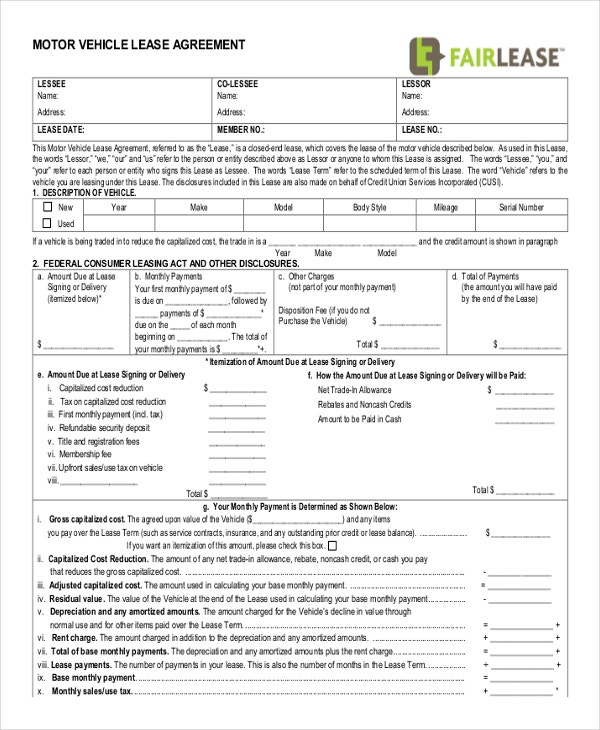 Free Commercial Lease Agreement Template Sample